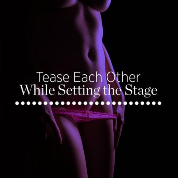 Tease each other while setting the stage