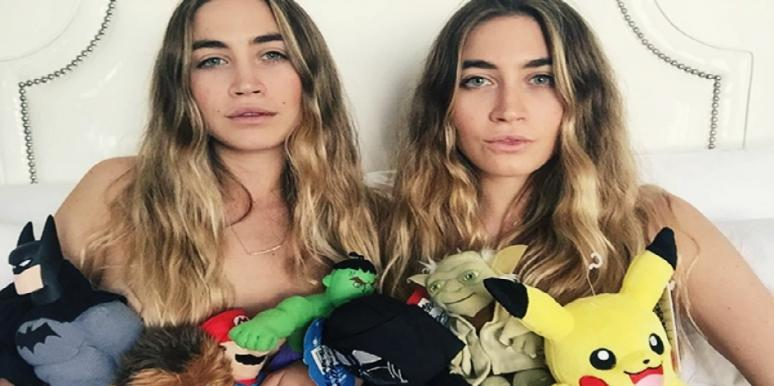 twins pose naked on Instagram with toys