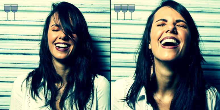 Incredible photo series shows how faces change after wine.