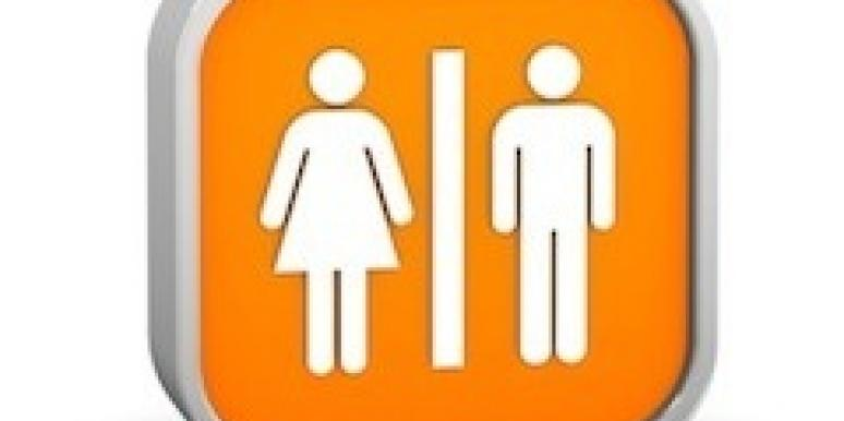 man and woman bathroom sign