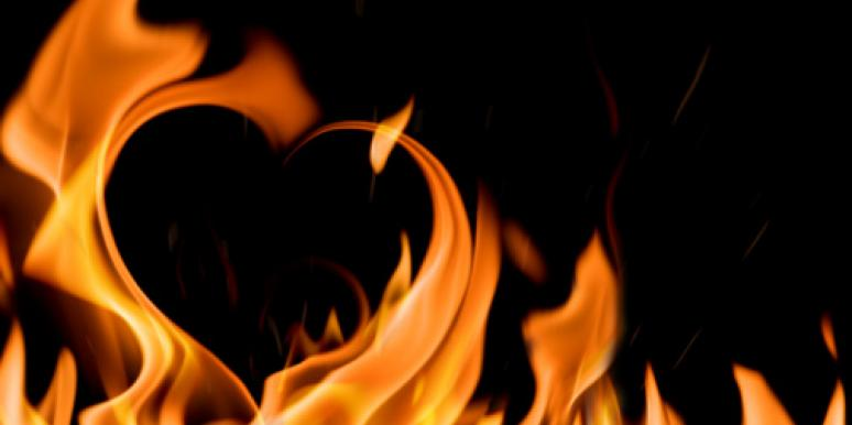 heart-shaped fire