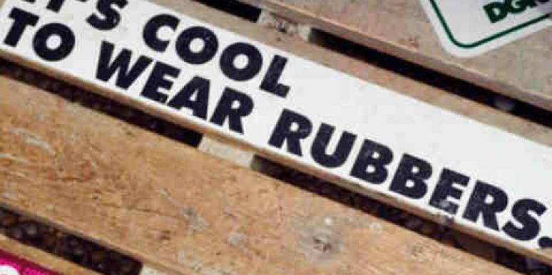 it's cool to wear rubbers sign condoms stds