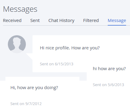 Online dating messages stop