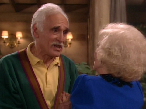 "<a href=""http://www.sitcomsonline.com/photopost/data/662/hg5.JPG""/>Harold Gould as Miles Webber, with Betty White as Rose Nylund, on ""The Golden Girls</a>"