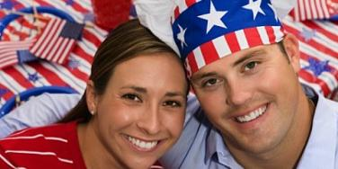 patriotic couple