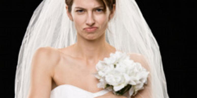 An angry bride.