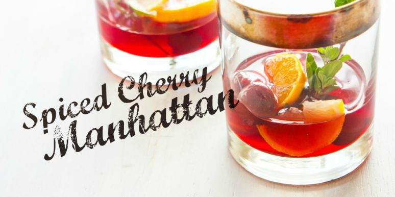 Spiced Cherry Manhattan