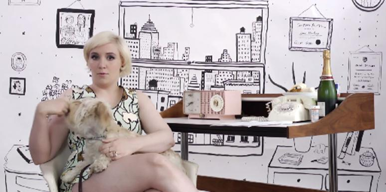 Lena Dunham Ask Lena video still