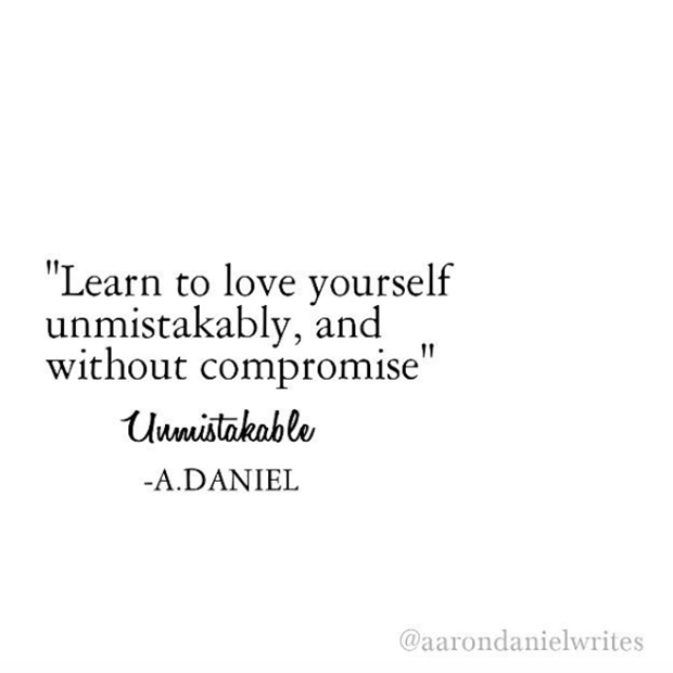 Love Poem Quote LifePowerful Instagram Quotes Poet Aaron Daniel About Life