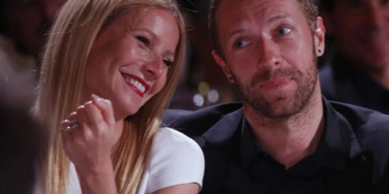 Gwyneth Paltrow and Chris Martin, lead singer of Coldplay, before they announced their split