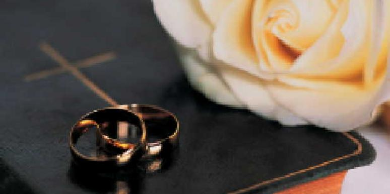 bible wedding bands rose