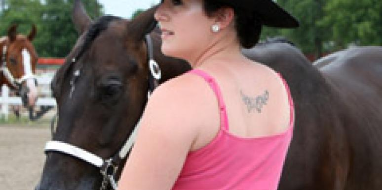 woman tattoo horse