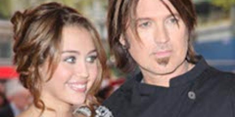 Billy Ray and Miley Cyrus.