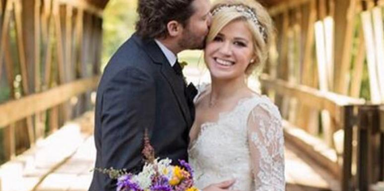 Brandon Blackstock & Kelly Clarkson on their wedding day