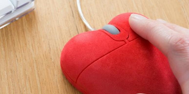 red heart-shaped computer mouse