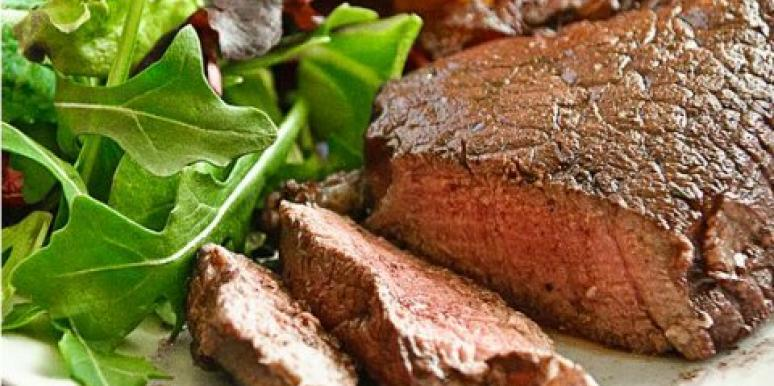 red wine poached filet mignon