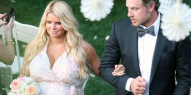 Jessica Simpson Eric Johnson at wedding