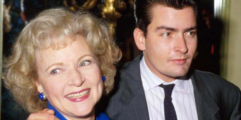 Betty White and Charlie Sheen