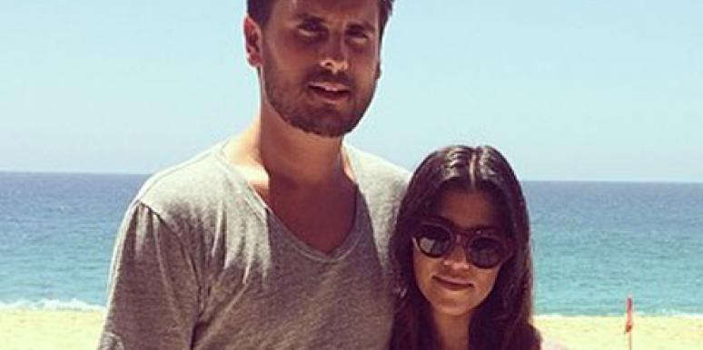 Scott Disick and Kourtney Kardashian on the beach, courtesy of Kourtney Kardashian's Instagram (instagram.com/kourtneykardash)