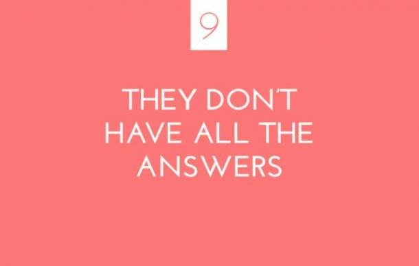 They don't have all the answers