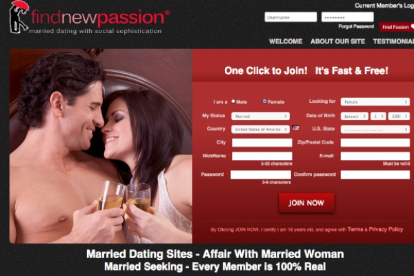 Dating site for married persons
