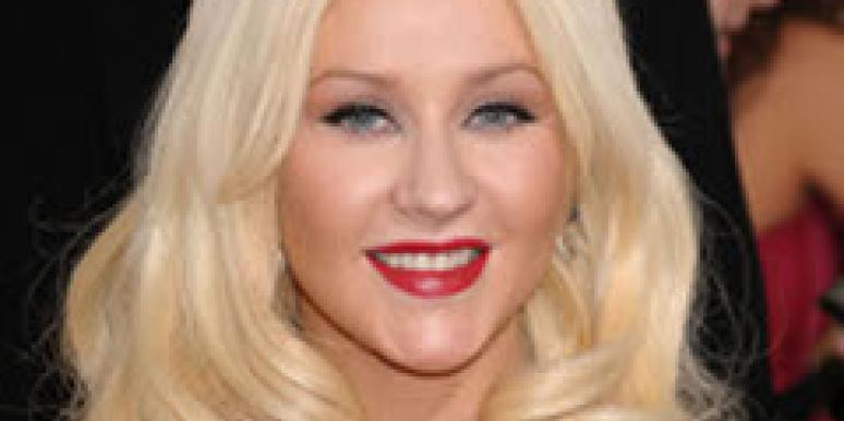 Christina Aguilera at the Golden Globes.