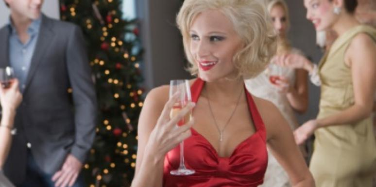 christmas party girl dress flirting