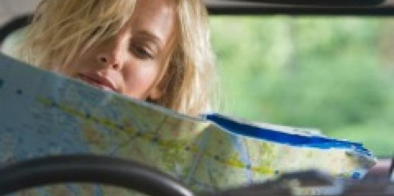 woman map lost car