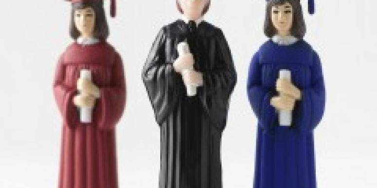 Graduation figurines