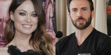 Olivia Wilde and Chris Evans