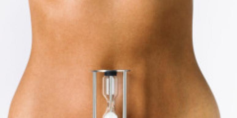 bare female stomach with hourglass
