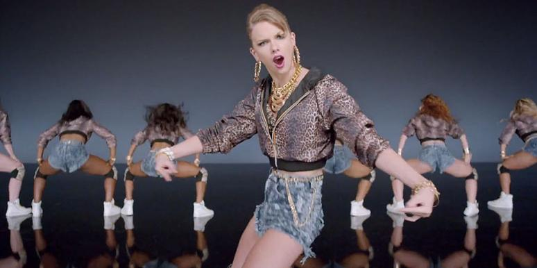 "Taylor Swift looking obnoxious in her ""Shake It Off"" music video from the album ""1989"""