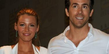 Blake Lively and Ryan Reynolds smile