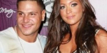 Ronnie Ortiz-Magro and Sammi Giancola from 'Jersey Shore'