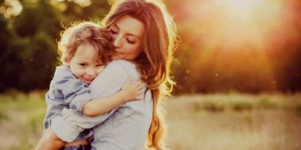 mom with her son