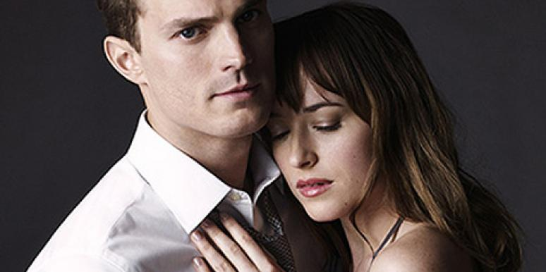 Jamie Dornan and Dakota Johnson in Entertainment Weekly as Christian Grey and Ana Steele from '50 Shades Of Grey' for the 'Fifty Shades Of Grey' movie