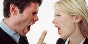 woman and man arguing