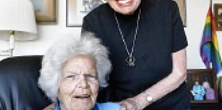 Senior Lesbian Couple Wed
