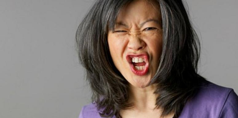 asian woman yelling