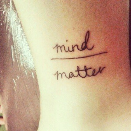 mind matter anxiety tattoo