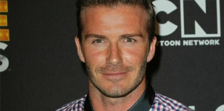 David Beckham up-close