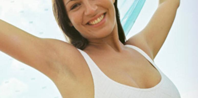 happy upbeat woman