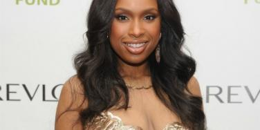 Jennifer Hudson gold dress