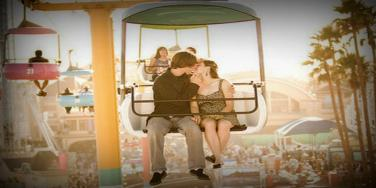 kiss at the amusement park
