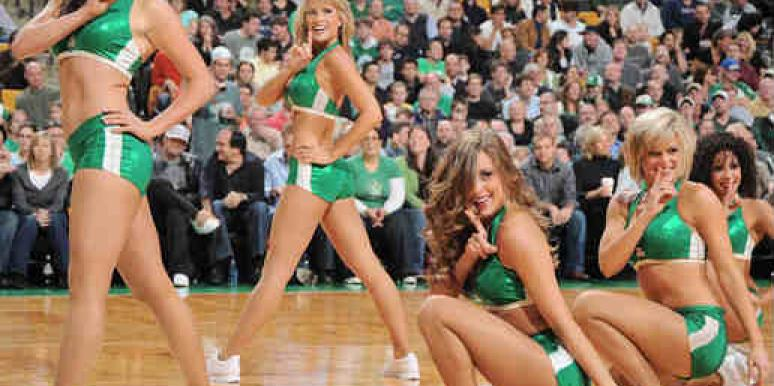 The Celtics cheerleaders