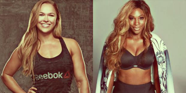 ronda rousey serena williams