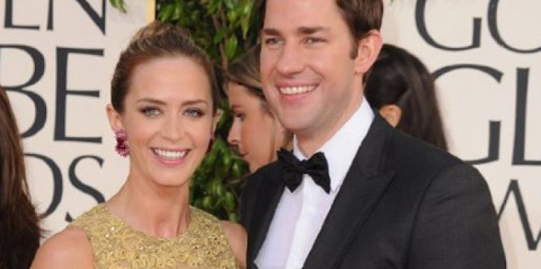 Emily Blunt & John Krasinski at the Golden Globe Awards