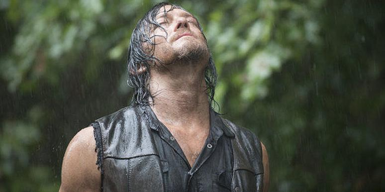 Norman Reedus as Daryl Dixon on AMC 'The Walking Dead' Season 5 in the rain