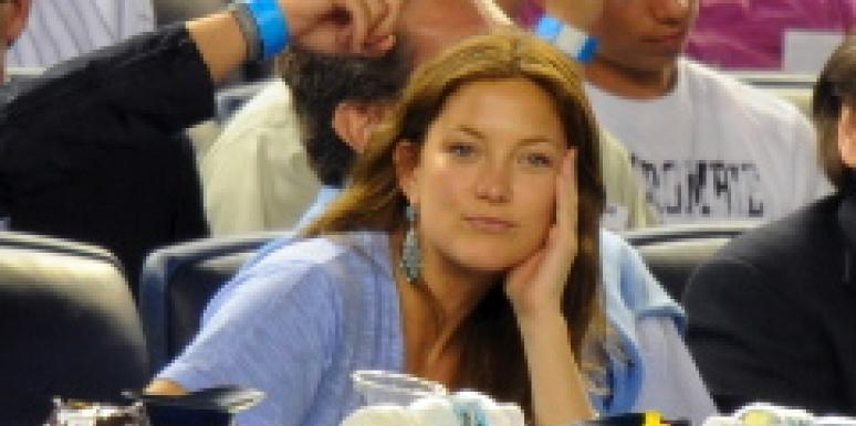 kate hudson, yankees game