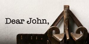 dear john typewriter